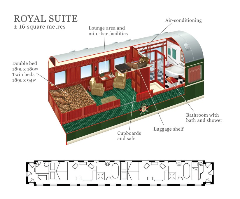 South Africa Golf Tour Accommodation Train Royal Suite